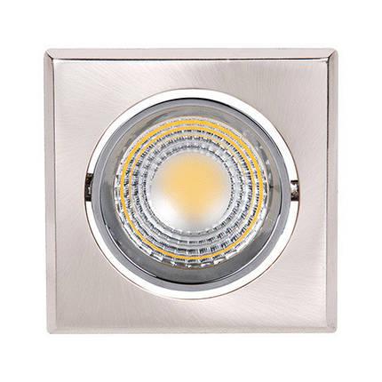 Светодиодный светильник Horoz (HL678L) 3W 6500K квадрат. мат. хром (потолочный) Код.55196, фото 2
