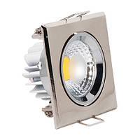 Светодиодный светильник Horoz (HL679L) 5W 2700K квадратный мат. хром поворотный Код.55591
