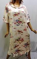 Ночная рубашка, сорочка женская большого размера (до 60р), Китай