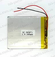 Батарея (аккумулятор) для планшета 2000мАч , Li-Pol 3.7В, 71*58*3.8 мм