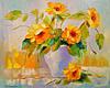 «Желтые цветы» картина маслом