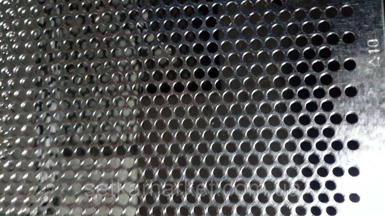 Решето (сито) ОВС-25, товщина: 1.0 мм, осередок 10 мм, оцинкований метал