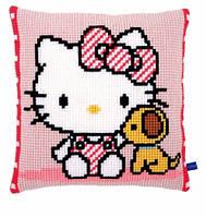 "Набор для вышивания крестом  VERVACO ""Hello Kitty with dog (Хелло Китти с собачкой)"""