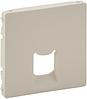 Лицевая панель телефонной / компьютерной RJ11/RJ45 розетки слоновая кость 755411 Legrand Valena Life