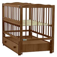 Детская кроватка Baby Sleep Aurora AKP-S-B Mahagoni (махагон)