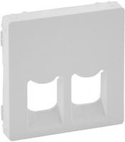 Лицевая панель информационной RJ11+RJ45 розетки белая 755420 Legrand Valena Life