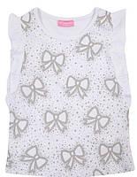 Майка для девочки LC Waikiki белого цвета с бантиками