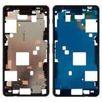 Рамка крепления дисплея для мобильного телефона Sony D5833 Xperia Z3 Compact Mini, черная