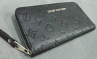 Кошелек Louis Vuitton черный эко-кожа