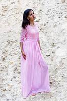 Платья выпускное гипюр с шифоном