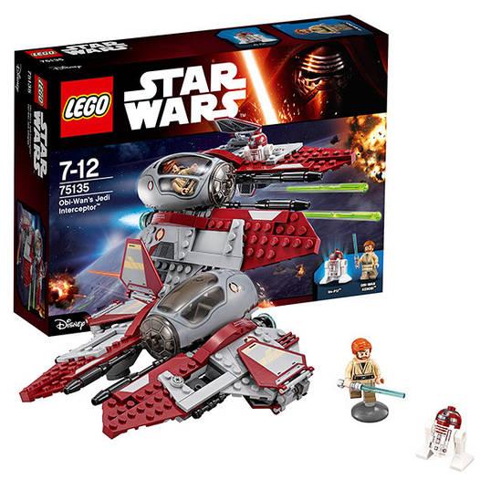 Конструктор LEGO Star Wars Перехоплювач джедаїв Обі-Вана Кенобі (75135) Перехватчик джедаев Оби-Вана Кеноби