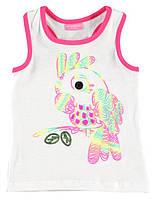Майка для девочки LC Waikiki белого цвета с попугаем, фото 1