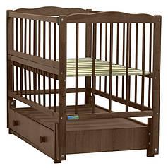 Детская кроватка Baby Sleep Aurora AKP-S-B Nussbaum Dunkel(т. орех)