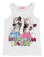 Майка для девочки LC Waikiki белого цвета с котиками