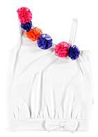 Майка для девочки LC Waikiki белого цвета на одно плече