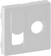 Лицевая панель телевизионной + компьютерной TV+RJ45 розетки белая 754830 Legrand Valena Life