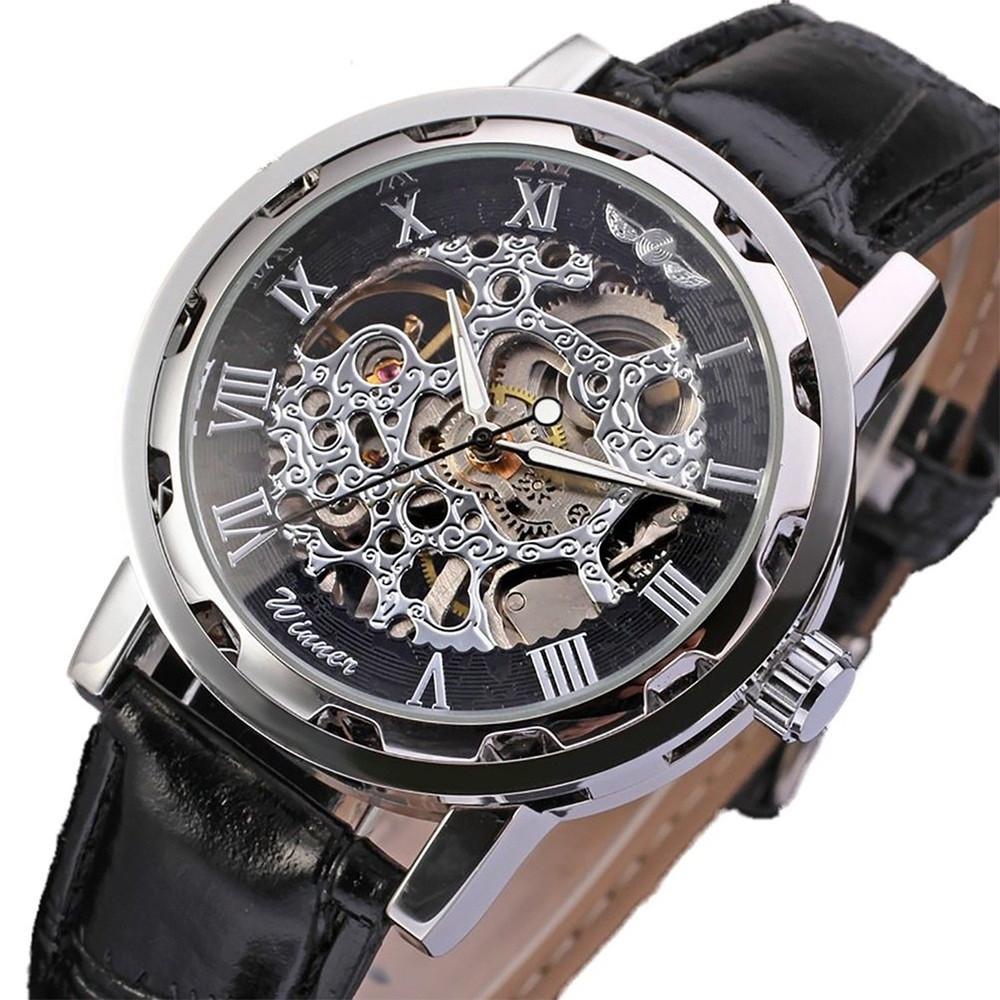 Часы Skeleton Winner Black