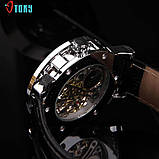 Часы Skeleton Winner Black, фото 4