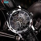 Часы Skeleton Winner Black, фото 5