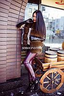 Красивый жилет из меха финского песца, цвет кофе, широкая складка меха, в наличии в шоу руме г.Харькова