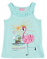 Майка для девочки LC Waikiki голубого цвета с фламинго