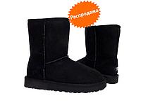 Угги черные короткие UGG Australia Classic Short Black сапоги зимние женские Ugg  Original