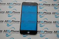 Стекло корпуса для мобильного телефона Apple iPhone 7 Plus с рамкой черное
