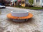 Лавка садово-парковая круглая с бетонным основанием №8, фото 2