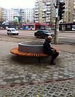 Лавка садово-парковая круглая с бетонным основанием №8, фото 3