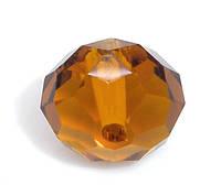 Бусина-рондель, 10mm, Имитация кристаллов сваровски 5040, Темно-карий, Отверстие: 1.4 мм
