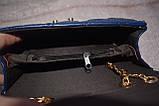 Сумка  темно-синяя  на цепочке, фото 2