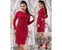 29c647b5c11 Стильное облегающее платье до колен красного цвета (р.42-48)