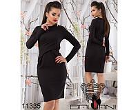 a1a4e24893c Стильное облегающее платье до колен черного цвета (р.42-48)