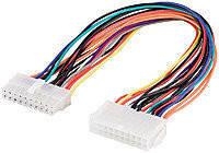 Кабель питания ATX 20p M/F 0.3m, кабель питания для видеокарт