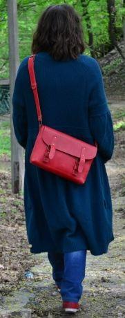 Красная женская кожаная сумка Сrossbody Babak 861078
