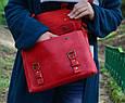 Красная женская кожаная сумка Сrossbody Babak 861078, фото 2