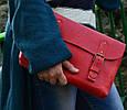 Красная женская кожаная сумка Сrossbody Babak 861078, фото 3