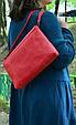 Красная женская кожаная сумка Сrossbody Babak 861078, фото 4
