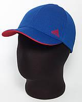 """Спортивная бейсболка """"Adidas"""" лакоста шестиклинка цвета электрик с красным подкозырьком"""