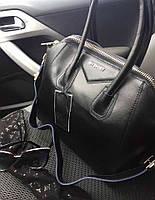Стильная женская сумка реплика GIVENCHY натуральная кожа, качество люкс. Цвет черный