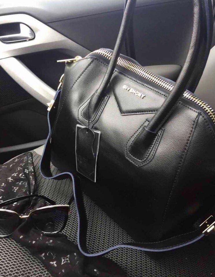 Стильная женская сумка реплика GIVENCHY натуральная кожа, качество люкс.  Цвет черный - Модный гардероб 1d554705afd
