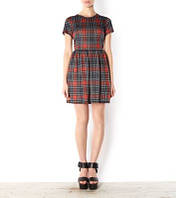 Платье в шотландскую клеточку New look