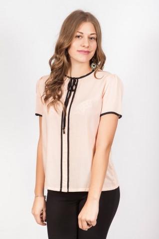 Блуза женская с завязками с короткими рукавами