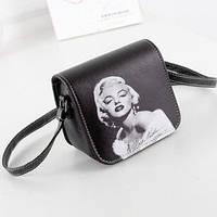 Стильная женская мини сумочка Мерлин Монро