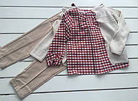 Детский комплект - рубашка , кофта , брюки - для девочки на 2 - 6 лет