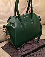 Стильная женская сумка реплика GIVENCHY натуральная кожа, качество люкс. Цвет зеленый