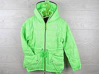 """Куртка подростковая демисезонная """"Adidas"""". 6-10 лет. Салатовая. Оптом."""