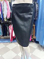 Юбка черная Zara, кожзам