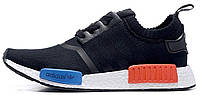 Мужские кроссовки Adidas NMD R1 Boost Runner Primeknit OG Black (Адидас НМД) черные