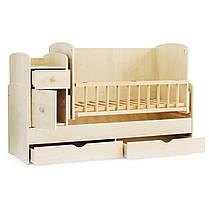 Детская кроватка-трансформер Baby Sleep Angela DTP-S-B Naturholz (натур), фото 2